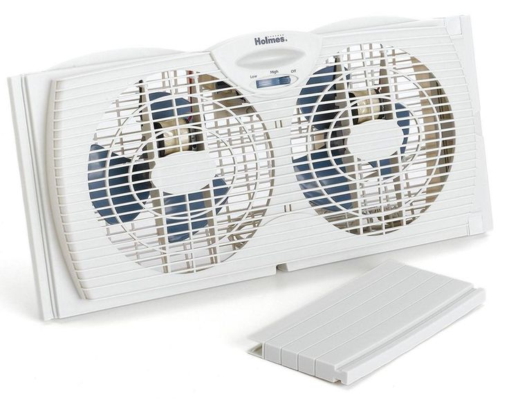 Window Fan Dual Blade Twin Panel Quiet Efficient Two Speed Water Resistant NEW  #Holmes