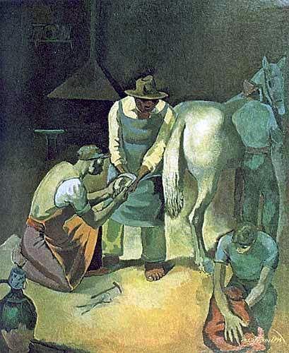 """Farrier"" Turkish painter Nuri İyem."