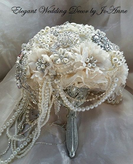 462 Best Brooch Jewelry Bouquets Images On Pinterest Bridal Wedding And Bouquet Flowers