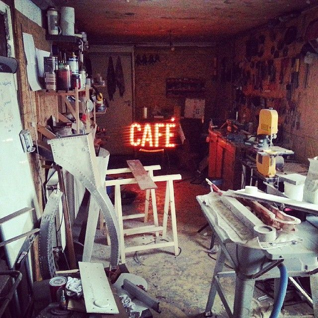 Cafe marquee light sign by Hernstag