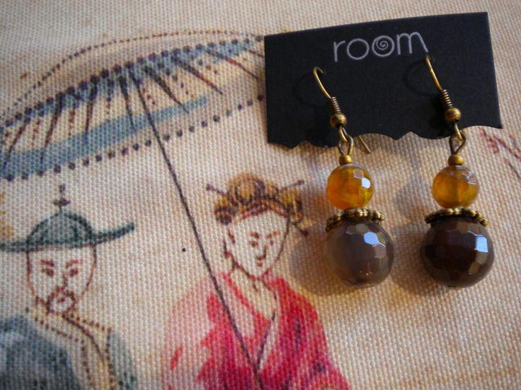 Nueva colección de pendientes vintage con piedras semipreciosas