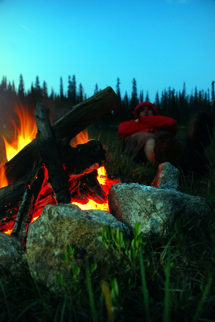 Camping - tents, fishing for dinner, ghost stories, late nights around the fire, freezing your butt off, millions of stars in the sky..  just loving it.
