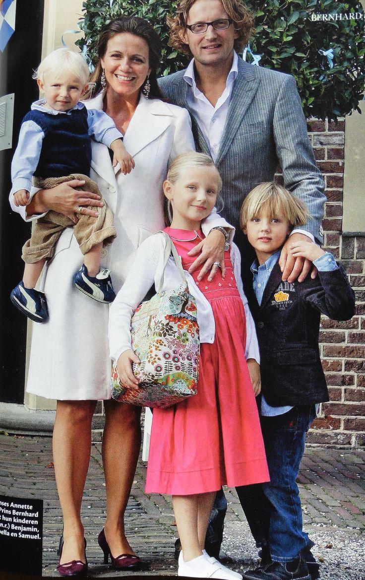 Bernhard, Annette, Isabella, Samuel en Benjamin van Vollenhoven