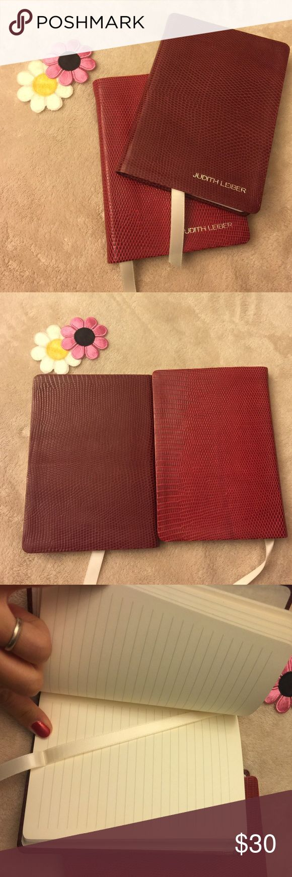 📚New Judith Leiber notebooks📚 Brand new notebooks. Price is for 2 notebooks. If you would like to purchase 1, I will create a new listing.  Price for 1 is $18. Made with authentic exotic skin (just not sure what kind). Notebook printed and bound in the US. Accessories