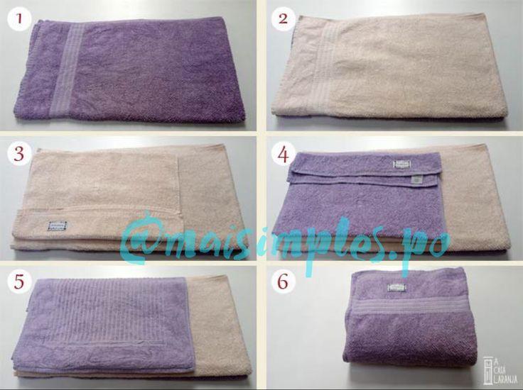 🚿 Dobrando as toalhas de banho.