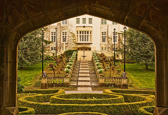 Royal Roads University, Victoria, BC, Canada. The university is in the old Hatley Castle