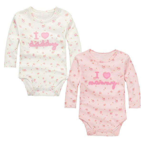Ползунки, комбинезоны из Китая :: Momscare baby одежда новорожденного хлопок треугольник связки пердеть длинный рукав Ромпер для двух частей 2 штук Pack штемпеля.