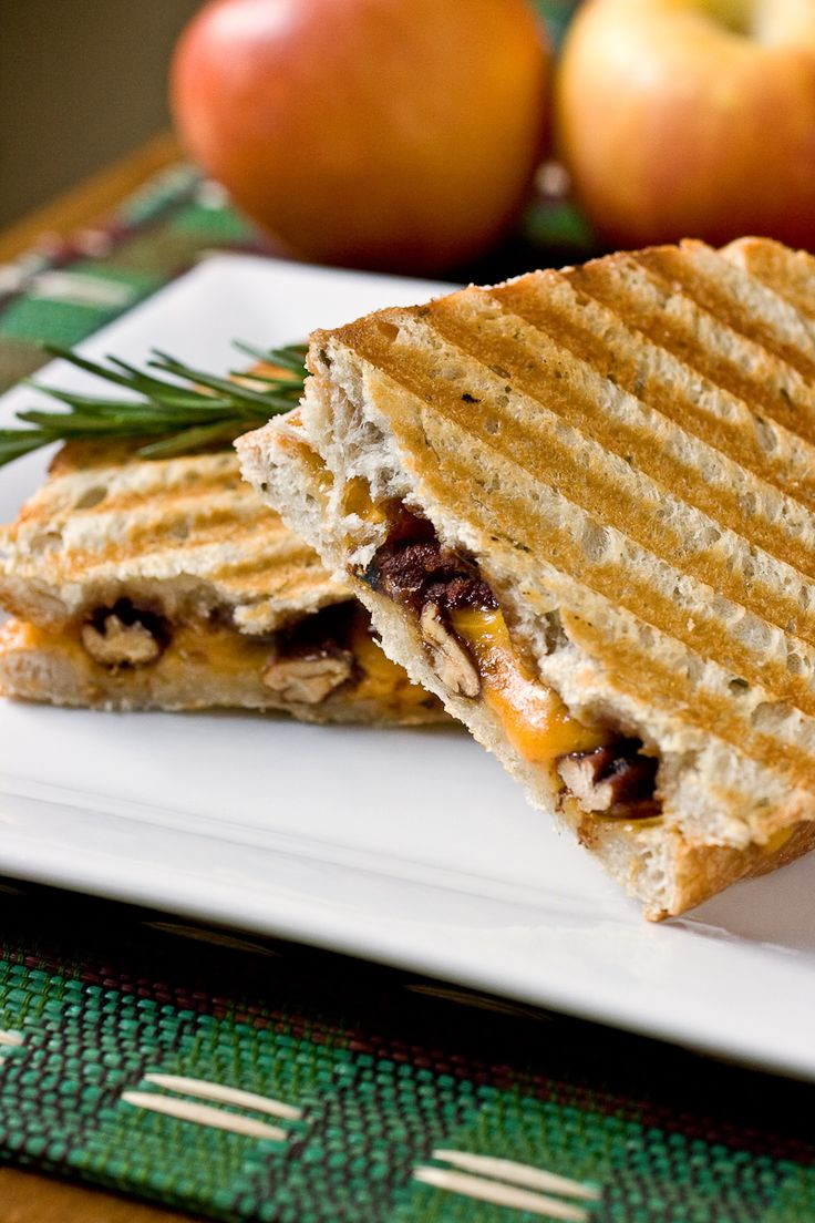 Granola-Crusted Pear And Almond Butter Panini Recipe — Dishmaps