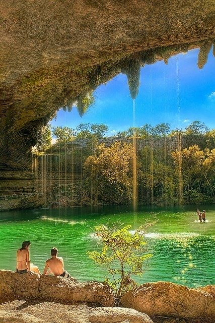 America Texas Austin Hamilton Pool Preserve The Lagoon Usa Travel Naturalpool Favorite Places Es In 2018 Beautiful
