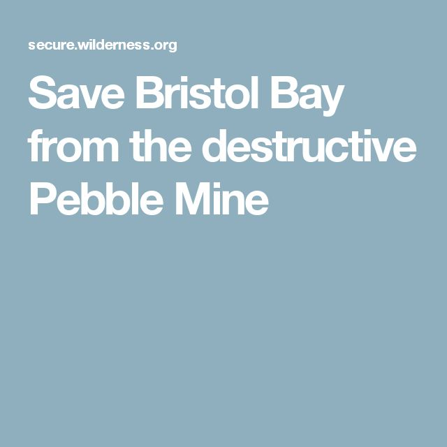 Save Bristol Bay from the destructive Pebble Mine