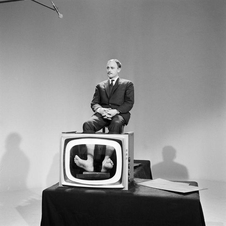 Le Professeur Choron dans l'émission les Raisins Verts, 1963.
