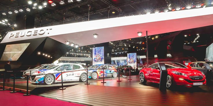 #PeugeotSport at #Paris MotorShow #MondialAuto #PeugeotRCZR #208T16