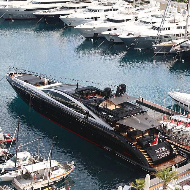 M/Y Black Legend in Monaco! | Photo by @roducry17 | #blacklist #blacklistlifestyle #yacht #blacklegend