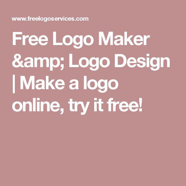 Free Logo Maker & Logo Design | Make a logo online, try it free!