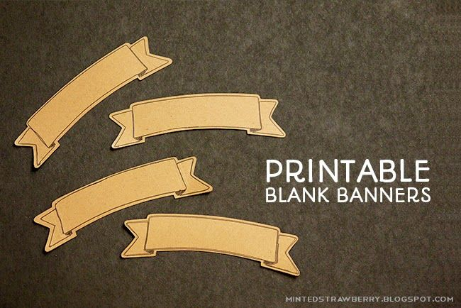 Free Printable Blank Banner with Free Silhouette Cut File @ mintedstrawberry.blogspot.com  #silhouettecameo