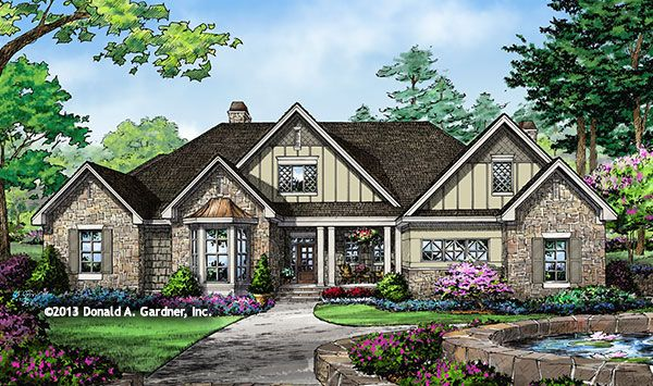 2689 Square Feet, 4 BR, 3.5 Bath, Single Dining Room. The Ramsey Plan #1347