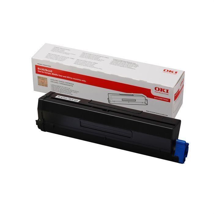 OKI Cartouche toner 44574702 – Compatible B411/B431 – Noir – Capacité standard 3.000 pages