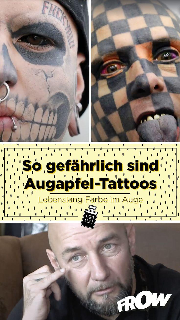 Tattoos im Auge. Würdet ihr das machen? Tattoo Artist Daniel Krause rät dringend davon ab!