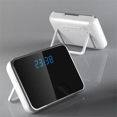 Digital Mirror Table Alarm Clock Hidden Camera with Motion Detection