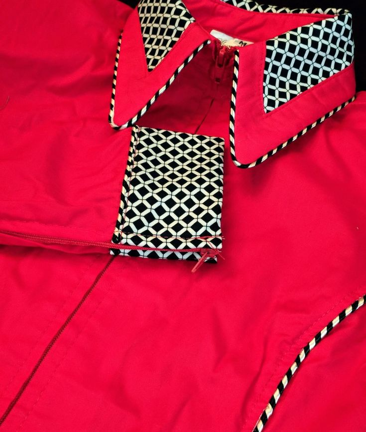 Show Diva Designs our bright red plain fitted shirt with accents and piping. Made in the USA 🇺🇸 showdivadesigns.com
