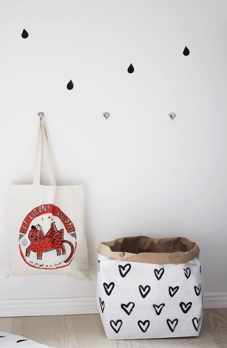 Tellkiddo small paper bag #storage #kidsroom #paperbag