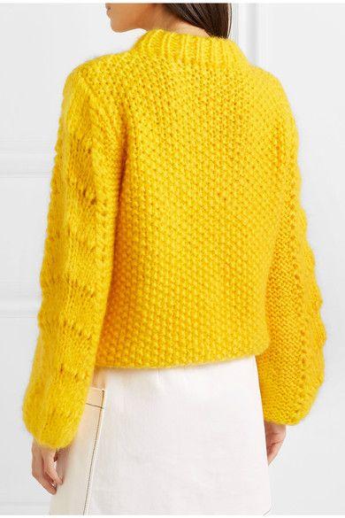 83e6a9f148c GANNI - Julliard mohair and wool-blend sweater | Sweatshirts and ...