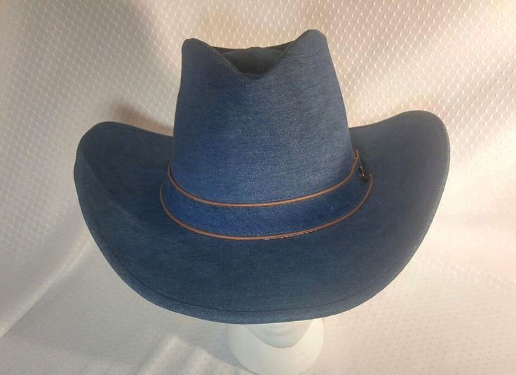 Resistol Cowboy Hat 7 1/8 Vintage Blue Denim Ranchman Series Western Rare  | eBay