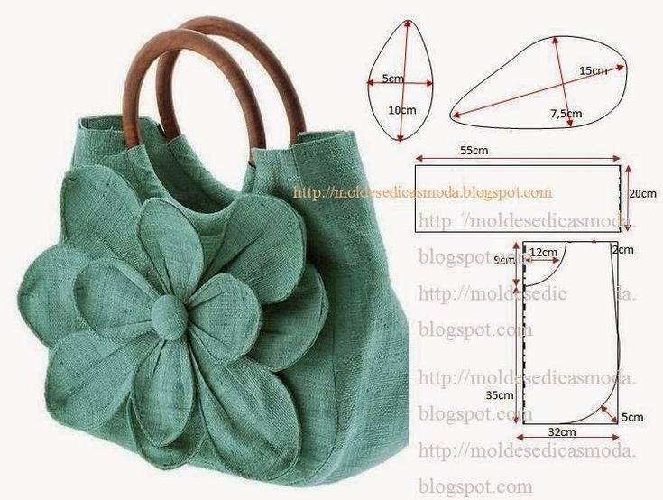 всем обалденные сумки выкройки с фото зеленый росток