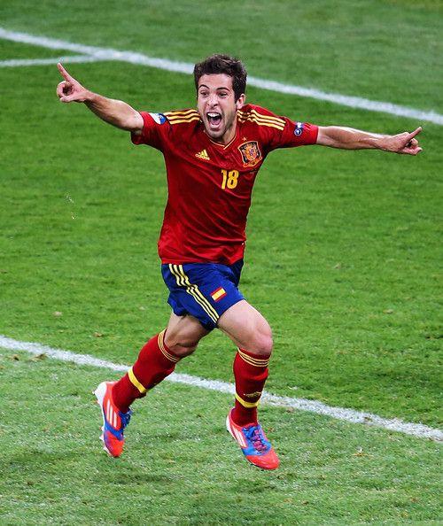 Jordi Alba Spain v Italy - UEFA EURO 2012 Final