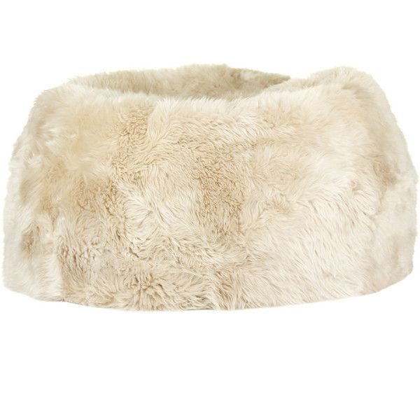 Natures Collection New Zealand Sheepskin Bean Bag - Linen ($1,275) ❤ liked on Polyvore featuring home, furniture, chairs, neutral, colored bean bags, colored chairs, colored furniture, linen chair and linen furniture