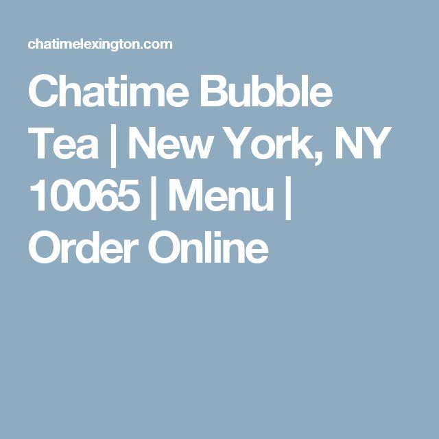 Chatime Bubble Tea | New York, NY 10065 | Menu | Order Online