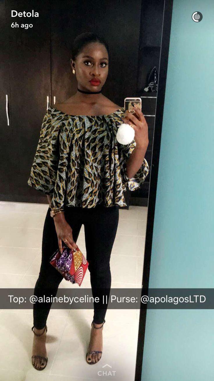 Off shoulder top. Bardot tops with sleeves . Ankara off shoulder top
