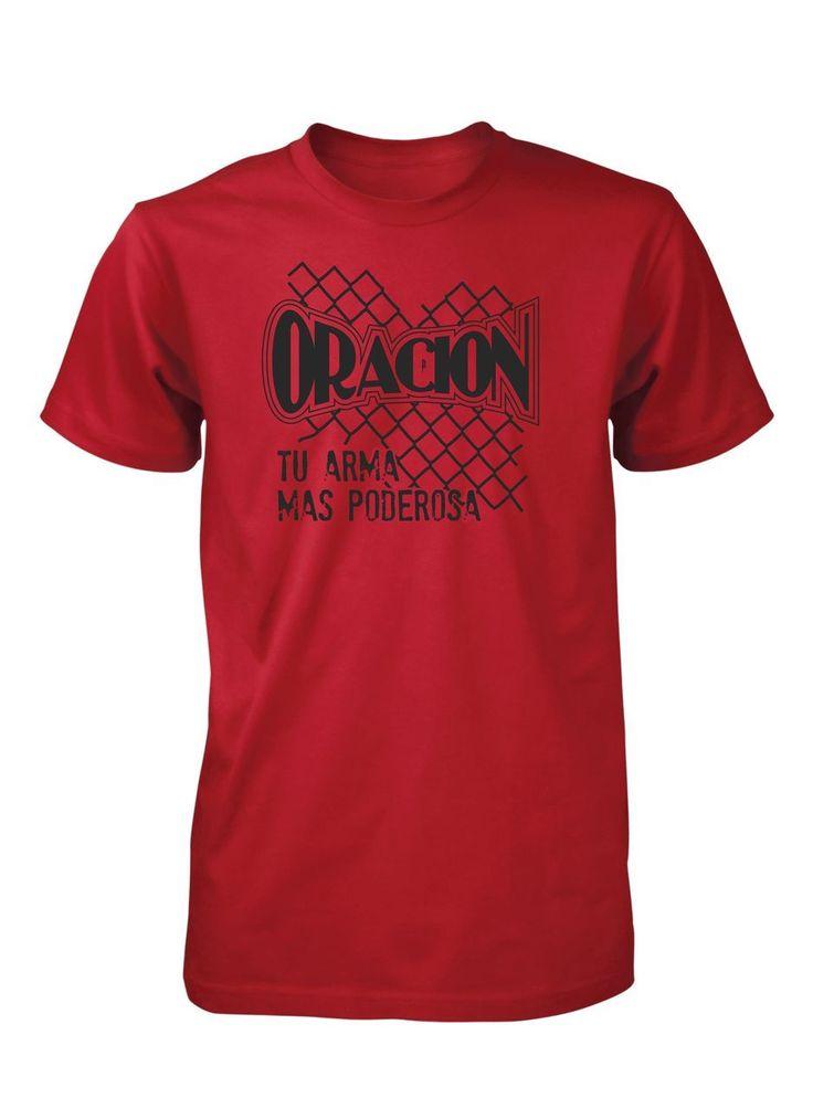 Aprobado por Jesus - Oracion Arma Poderosa Dios Camiseta Cristiana, $16.00 (http://www.aprojes.com/oracion-arma-poderosa-dios-camiseta-cristiana/)