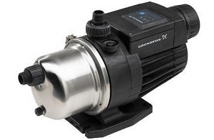 The #MQ is a complete, all-in-one unit, incorporating pump, motor, diaphragm tank, pressure and flow sensor, controller and check valve.