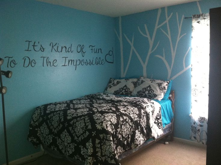 Black And Teal Bedroom Completed Pinterest Projects