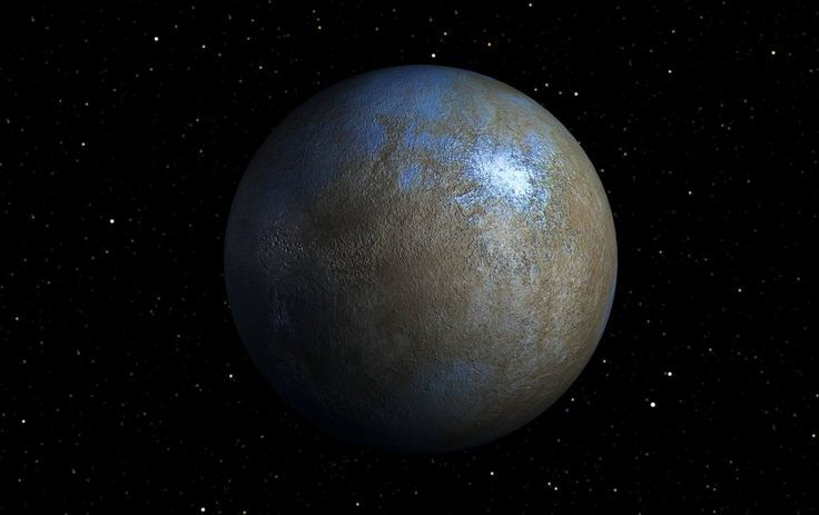 This is an artist's impression of the dwarf planet Ceres ...