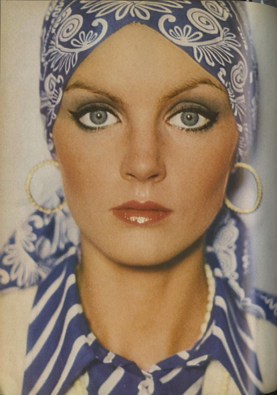 Photo by David Bailey from Vogue UK, March 15, 1973.  (I remember the look so well)