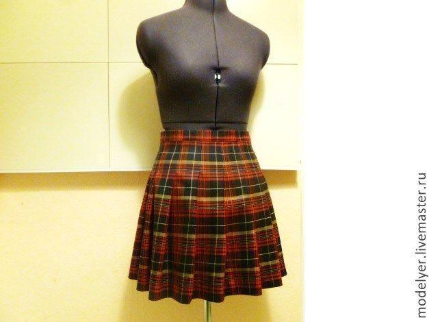 Купить Юбка шотландка / клетка , шерсть/ - в клеточку, одежда, юбки, юбка, юбочка