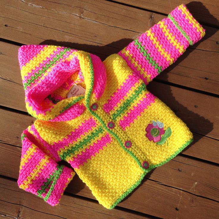 Crochet Baby Sweater, Handmade caterpillar sweater with hood, Baby Sweater, Girl Sweater, Boy Sweater - Size 2 by Bahde on Etsy