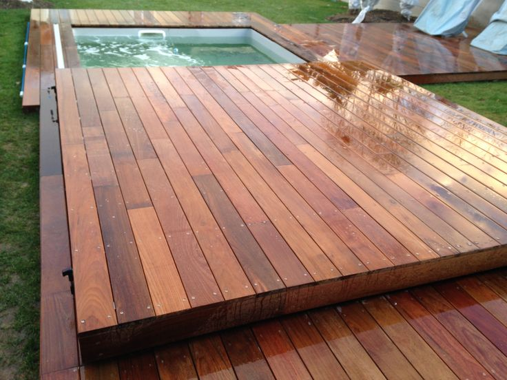 Cr ation couverture de piscine amovible transformable en for Prix piscine terrasse