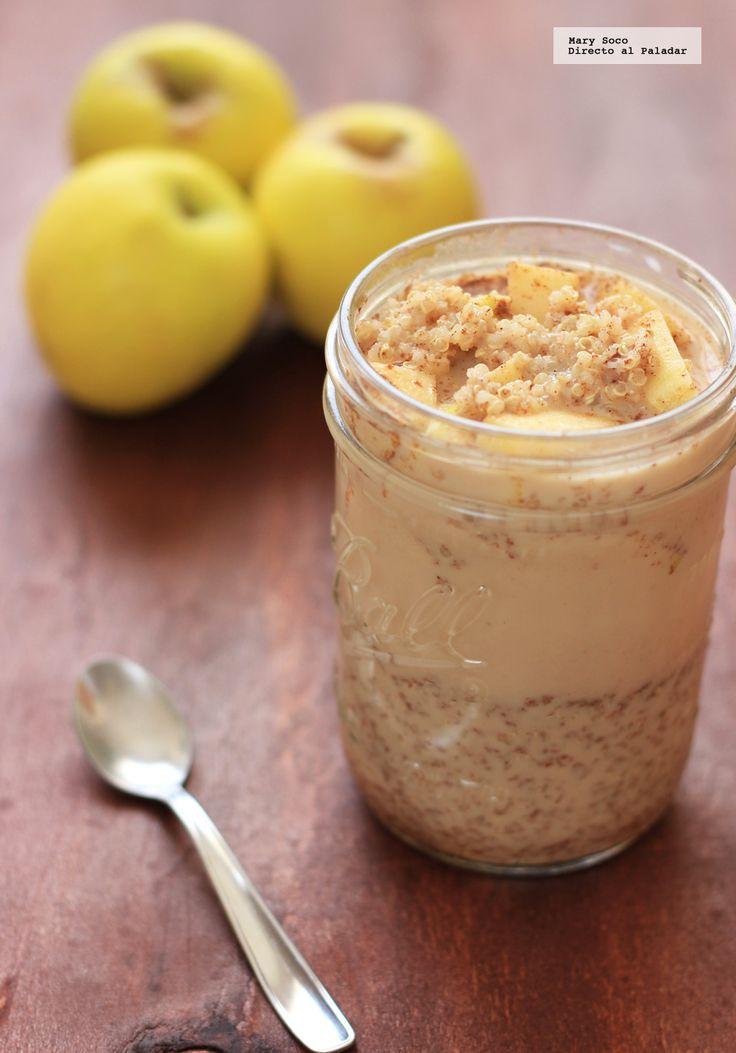 Receta de Quinoa con manzana y canela. Con fotografías paso a paso, consejos y sugerencias de degustación. Recetas para el desayuno...