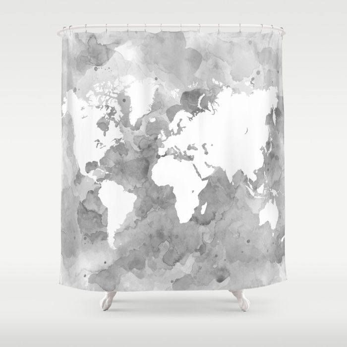 How To Create A Greyscale Bathroom: 17 Best Ideas About Shower Curtain Art On Pinterest