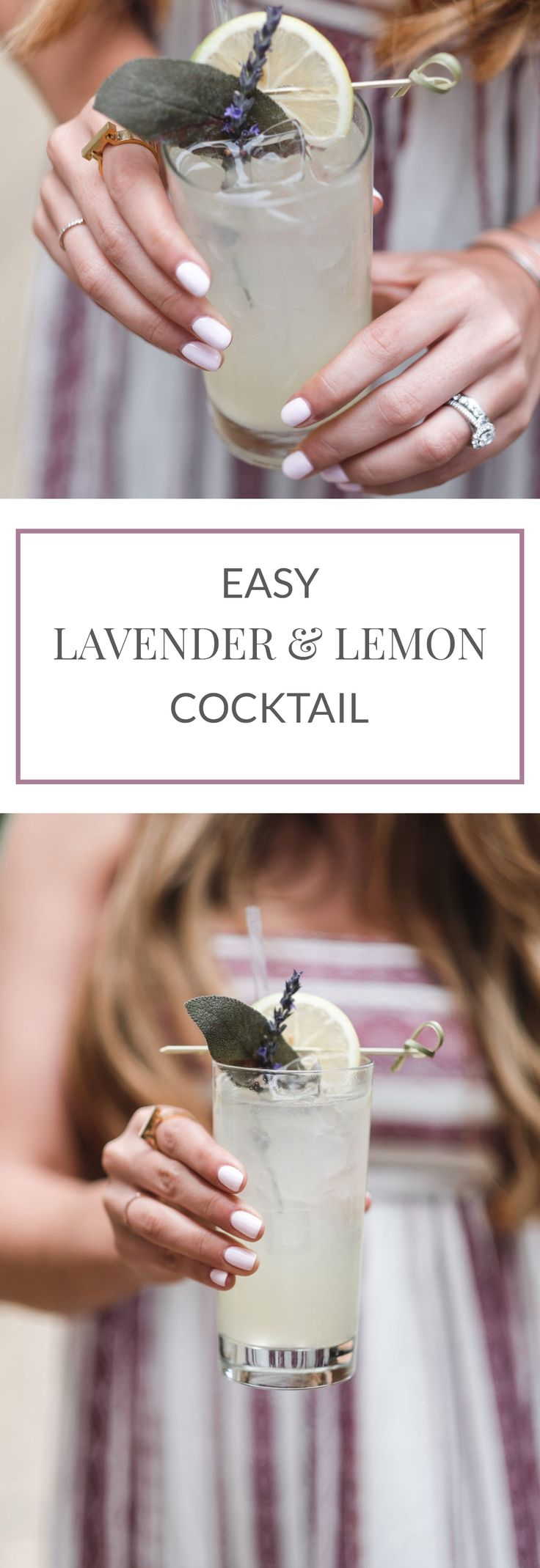 Easy Lavender Lemon Cocktail | The Teacher Diva: a Dallas Fashion Blog featuring Beauty & Lifestyle