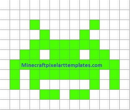 Minecraft Pixel Art Templates space invaders