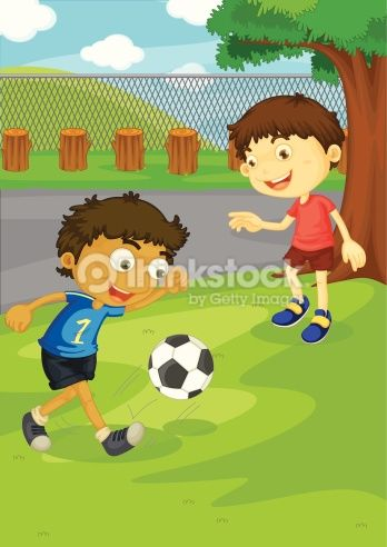 Vector Art : Soccer in the park