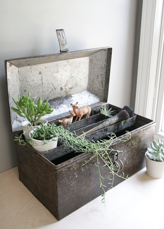 industrial domed metal chest