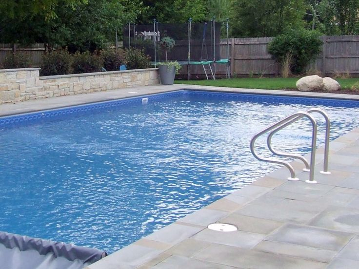 Pool Liner Designs For Inground Pools sunshelf vinyl liner indianapolis Cool Inground Pool Liners Design With Natural Decoration Used Concrete And Stone Material Combination For Inspiration
