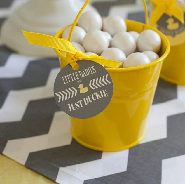"""Another idea for treats OR for Game Gift winners we could put together """"Bath Buckets"""" for the women & give them fun bath items & top with a rubber duckie & ribbon."""
