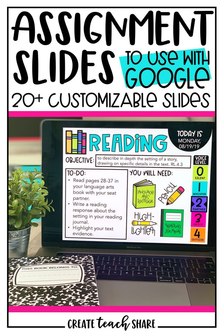 Assignment Slides Use With Google Slides Includes Distance Learning Slides Google Classroom Elementary Google Classroom Activities Classroom Tech