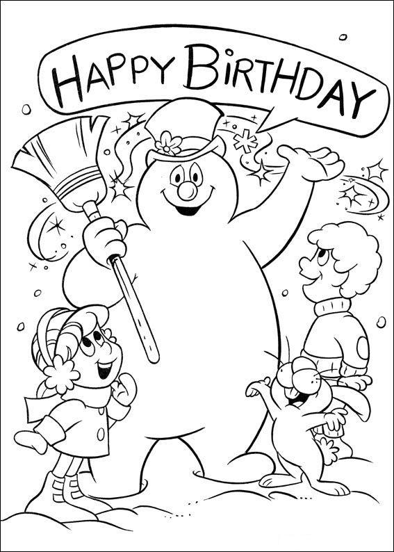 Happy birthday ausmalbilder ausdrucken - Geburtstag wunsche